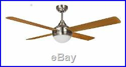 112 cm 48 ceiling fan with light kit and remote control BALLOO Nickel & Pine