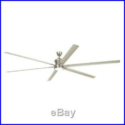 120 In Ceiling Fan LED Light Kit Remote Control Outdoor Aluminum Brushed Nickel
