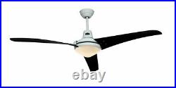 142 cm 56 ceiling fan with light kit and remote control MIRAGE White / Black