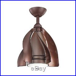 15-in Tannery Bronze Downrod Mount Indoor/Outdoor Ceiling Fan Light Kit Remote