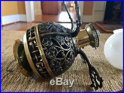 1886 Ltd Edition Commemorative Ornate Cast Iron Hunter Ceiling Fan & Light Kit