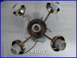 2 pcs Ceiling Fan 5-Light Kit 5-Bulb Antique Brass AB Fitter NEW
