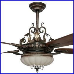 2066Home Decorators Collection Ceiling Fan with Light Kit and Remote Control 52