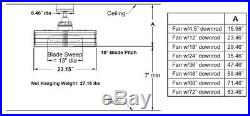 23 Fanimation Beckwith BN Drum Ceiling Fan withRemote Control & Light Kit Retro-