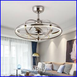 23 LED Ceiling Fan Light Kit with Remote 3 Speed Reversible Blades Brushed Nickel
