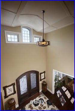 23-in Dark Bronze Indoor Downrod Mount Ceiling Fan with Light Kit Remote 3-Blade