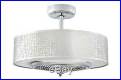 24 Chrome LED Indoor Ceiling Fan Fandelier with Light Kit