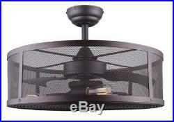 24 Oil Rubbed Bronze LED Indoor Ceiling Fan Fandelier with Light Kit
