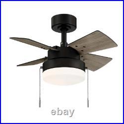 24inch Metarie II Ceiling Fan Light Kit Home Indoor Hampton Bay Matte Black New