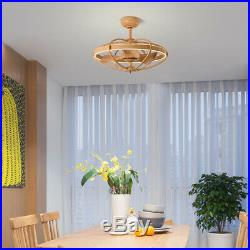 27 LED Ceiling Fan Light Kit with Remote 6 Speed Reversible Blades Wood Grain