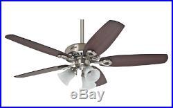 3 light kit ceiling fan with pull chain 132 cm 52 HUNTER BUILDER PLUS Chrome