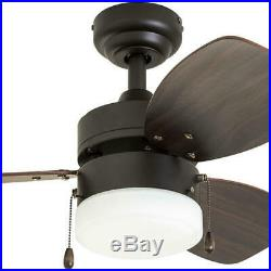 30 Bronze LED Indoor Ceiling Fan with Light Kit