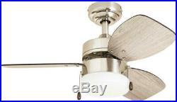 30 Brushed Nickel LED Indoor Ceiling Fan with Light Kit