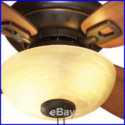 32 In Dark Oil Rubbed Bronze Indoor Downrod Close Mount Ceiling Fan Light Kit