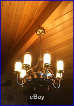35 Ceiling Fan + Remote Elegant Chandelier Unique Light Kit Fancy Brass Fixture