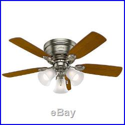 42 Antique Pewter LED Indoor Ceiling Fan with Light Kit
