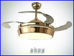 42 Ceiling Fan Light Chandelier with LED Kit Retractable Blades Remote Control
