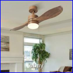 42 In. Led Natural Walnut Ceiling Fan With Light Kit And Remote Control (933)