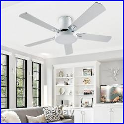 42 Inch Indoor Ceiling Fan with Light Kit and Remote For Bedroom, Living Room