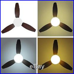 42 Indoor Ceiling Fan LED Light Kit 3 Blades Downrod Dimmable & Remote Control