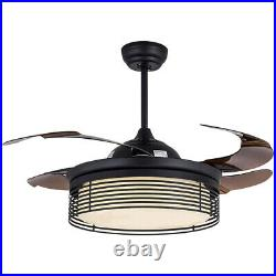 42'' Modern Ceiling Fan Light LED Reversal Remote Control With Light Kit Lamp