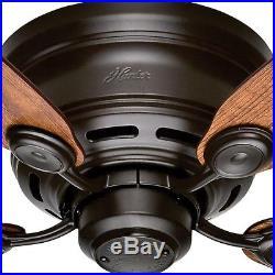 42 in. Flush Mount Ceiling Fan New Bronze Indoor Light Kit 3-Speed Quiet Motor