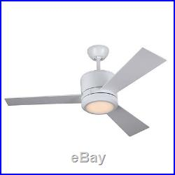 42-in Rubberized White Downrod Mount Indoor Ceiling Fan LED Light Kit Remote