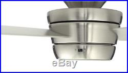 44 3-Blade Ceiling Fan With Light Kit And Remote Brushed Nickel Flush Mount