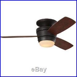 44 3-Blade Ceiling Fan With Light Kit And Remote Oil-Rubbed Bronze Flush Mount