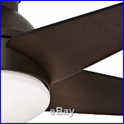 44 Casablanca Low Profile Ceiling Fan Brushed Cocoa with Cased White Light Kit