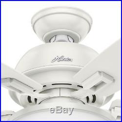44 Hunter Fresh White Ceiling Fan with LED Bowl Light Kit, 5-Blades