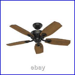 44 Matte Black 2 LED Indoor Ceiling Fan with Light Kit