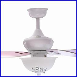 44 Small Girls Ceiling Fan Kids Room Unique Elegant Floral Light Kit Cute Gift