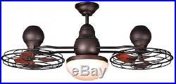 44-in Bronze Downrod Mount Indoor/Outdoor Ceiling Fan Light Kit Remote (6-Blade)