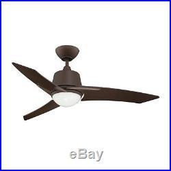 44-in Oil-Brushed Bronze Downrod Mount Indoor Ceiling Fan Light Kit Remote