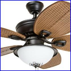 44-in Oil Rubbed Bronze Indoor Outdoor Ceiling Fan with Light Kit CloseMount Fan