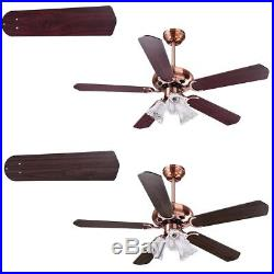 48 5 Blades Ceiling Fan 3 Light 3 Speed Kit Antique Reversible Remote Control