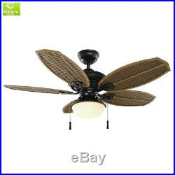 48 Ceiling Fan Light LED Kit Natural Iron Indoor Outdoor Home Office Patio NEW