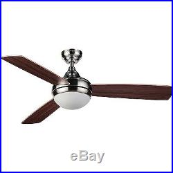 48 Honeywell Salermo Ceiling Fan Satin Nickel With Light Kit & Remote Control