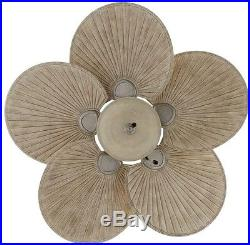 48 In. Outdoor Palm Blade Ceiling Fan Tropical Style Bowl Light Kit All-Weather