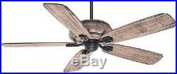 5 Blade Indoor Outdoor Ceiling Fan 4 Speed Light Kit Reversible Porch Patio NEW