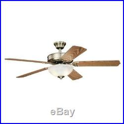 52 Antique Brass 2 LED Indoor Ceiling Fan with Light Kit
