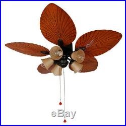 52 Ceiling Fan with Light 5 Blades Antique Brown Reversible Remote Control Kit
