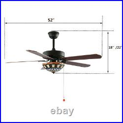 52 Ceiling Fan with Light Kit Remote Control Indoor Living room 3 Speed Change