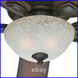 52 Hunter Outdoor Ceiling Fan, Onyx Bengal Florence Glass CFL Light Kit
