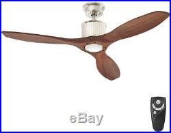 52 LED Indoor Brushed Nickel Ceiling Fan with Light Kit and Remote Control New