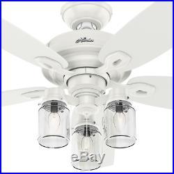 52 Lantern Ceiling Fan Unique Mason Jar Branch Light Kit Elegant Office Loft