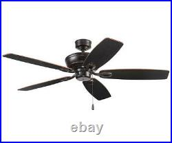 52 Oil Rubbed Bronze LED Indoor Ceiling Fan with Light Kit