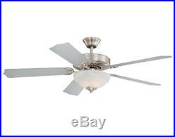 52 Satin Nickel 2 Light Indoor Ceiling Fan with Light Kit