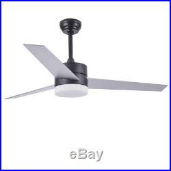 52 Vintage 18W LED Ceiling Fan with Light Kit Remote Control Reversible Blade